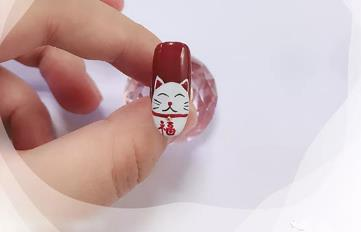 招财猫美甲怎么画 这是会让你发财的美甲